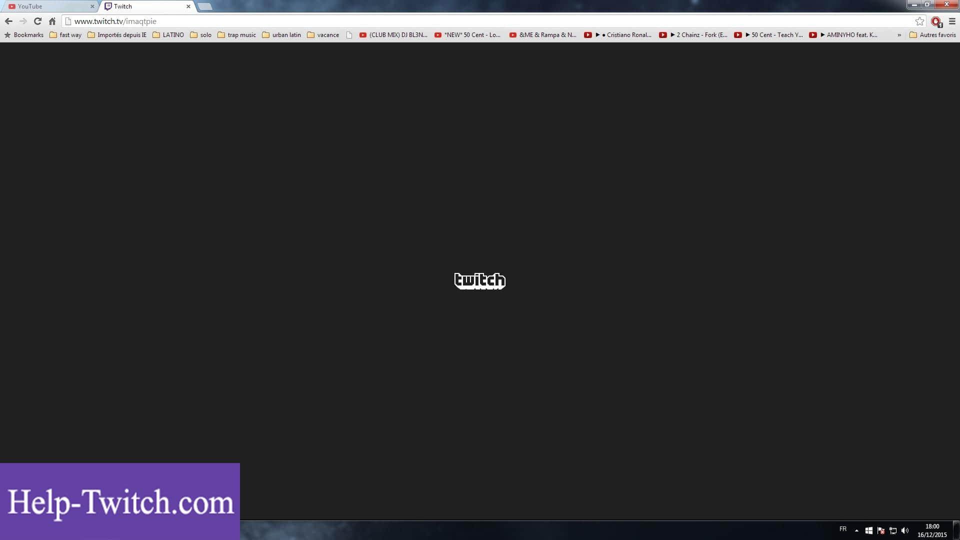 твич черный экран